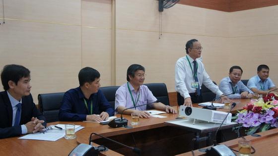 PGS.TS. Lê Văn An- Hiệu trưởng trườang ĐHNL phát biểu tại cuộc họp
