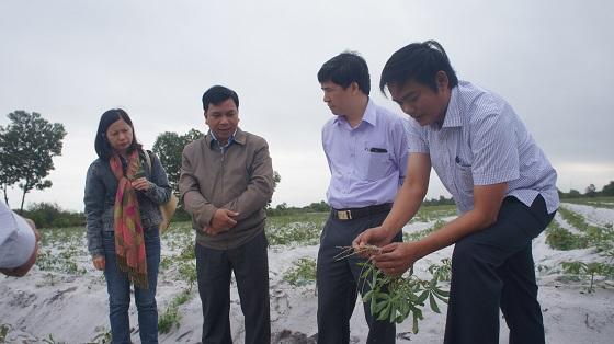 Lãnh đạo huyện chia sẽ về tình hình dịch bệnh và những khó khăn mà chính quyền và bà con nông dân đang gặp phải