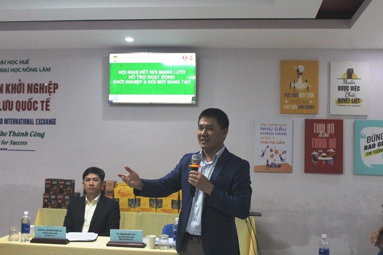 TS. Phạm Hữu Tỵ - Trưởng phòng KH,HTQT & TTTV chia sẽ về hoạt động KN&ĐMST của trường ĐHNL, ĐHH