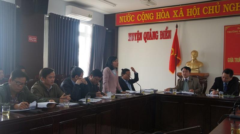 Các đơn vị chức năng, xã, thị trấn thuộc huyện Quảng Điền phát biểu, đề xuất lĩnh vực hợp tác