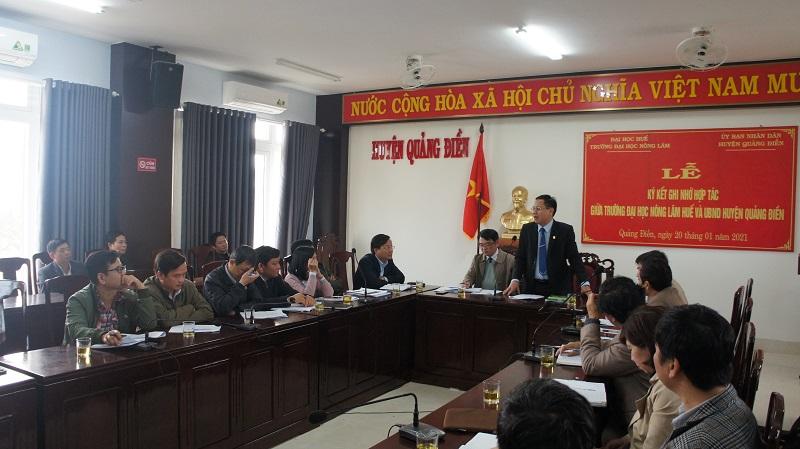 PGS.TS. Trần Thanh Đức phát biểu tại buổi làm việc